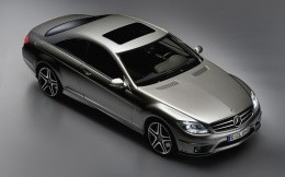 Silver Mercedes coupe