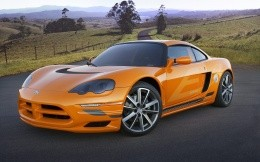 Sport orange Dodge cars wallpapers