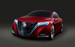 The concept of modern sports car Suzuki, 3D model of Suzuki.