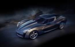 The concept of stylish sports car Corvette