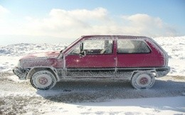 The frozen in Siberia car