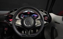 The interior of the concept car Toyota FT 86