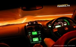 The modern car - inside view - wallpaper