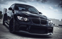 Tuned BMW M3, black