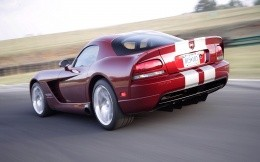 Tuned Dodge Viper car in sport coloration