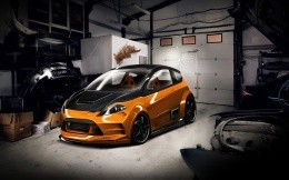 Tuned Ford Fiesta RS in the garage