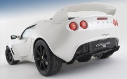 Two-door sports car Lotus Exige white