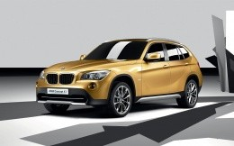 Urban crossover BMW X1, concept, 3D model