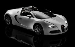 White Bugatti Veyron open-top car photo wallpaper