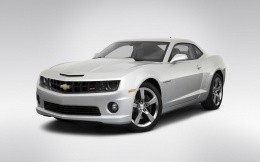 White coupe Chevrolet Camaro, photo