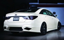 White Tuned Hyundai Solaris