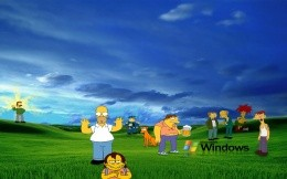 Bunch Simpsons - Wallpaper for Windows