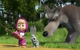 Cartoon Masha and the Bear