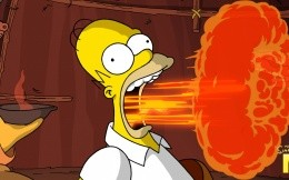 Homer Simpson and fire-belching