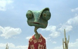 Portrait of a cartoon character Rango