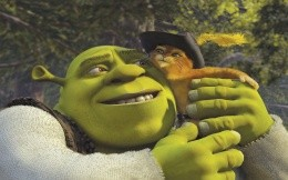 Shrek and the cat