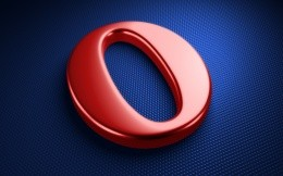 3D logo of the Opera browser on your desktop