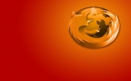 FireFox browser - desktop wallpaper red - orange gradient