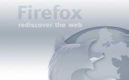 Monochromatic gray wallpaper dedicated browser FireFox