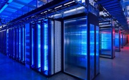 Photos of large data center, server room