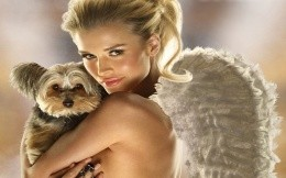 Angel with a dog