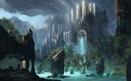 Art wallpaper on one of the fantasy worlds