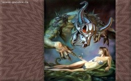 Beauty and the Beast - erotic wallpaper - light erotic, fantasy, Steel Monster