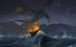 Dragon attacked the ship