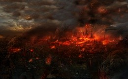 End of the world - a city on fire