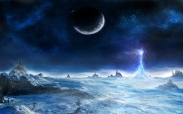 Fantasy picture - frozen planet wallpaper.