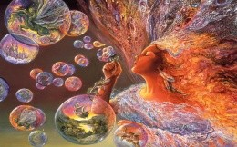 Josephine Wall, the Queen of soap bubbles