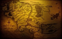 Map of Middle-earth from the works of Tolkien