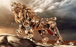 mechanical lion