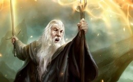 The artwork with Gandalf, Lord of the Rings
