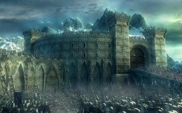The battle for the fortress, the Lord of the Rings