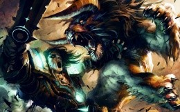 The battle with the chimera The artwork