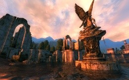 Angel statue from the game The Elder Scrolls 5: Skyrim