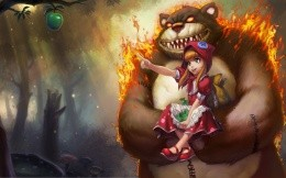 Art wallpaper with a girl named Annie from the game League of Legends