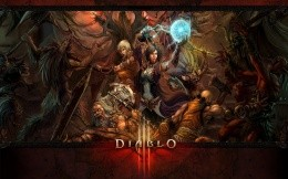 Battle scene heroes Diablo 3 with the undead