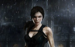 Cartoon character from the game Lara Croft Tomb Raider