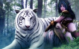 Elf with a tiger)