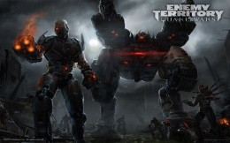 Enemy Territory: Quake Wars-Infiltrator against Cyclops