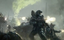 Height of the battle from the game Halo