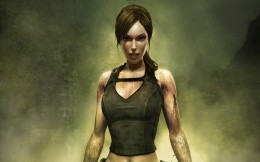 Lara Croft, heroine of the game Tomb Raider