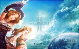 Lineage 2 game - desktop calendar wallpaper, stylish, colorful girls games