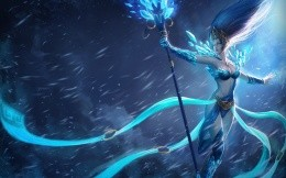 Mage with ice stick from the League of Legends