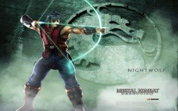 Nightwolf hero of the famous game Mortal Combat (Mortal Kombat)
