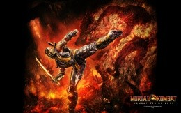Scorpion, the hero of the new Mortal Combat 2011 screensaver for PC