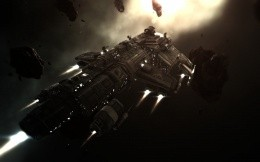 Space battleship from the game Eveonline.
