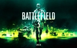 Stylish dark green ART wallpaper on the game Battlefield 3
